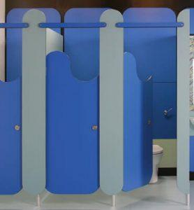 Перегородки для школьных туалетов