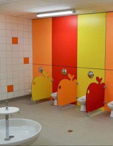 Сантехнические перегородки для детских садов